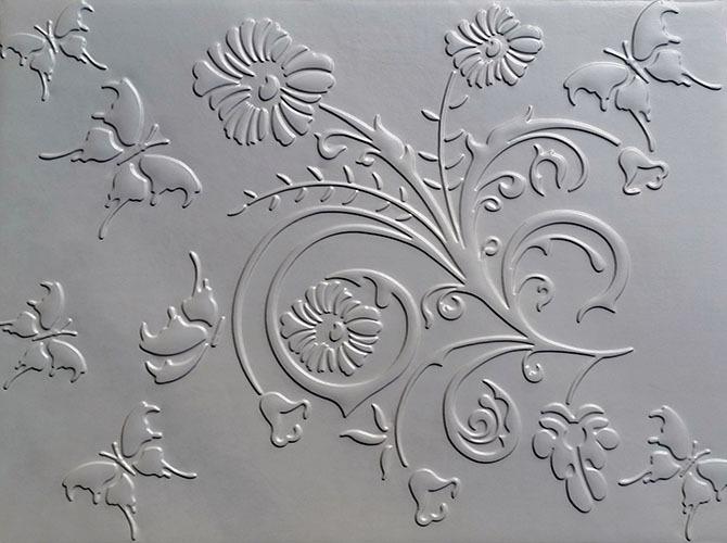 Butterflower 3D White